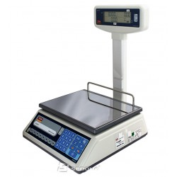 Price Computing Scale Tem EGE LCD with Pole - 15/30 kg - without Connexion - Power Supply