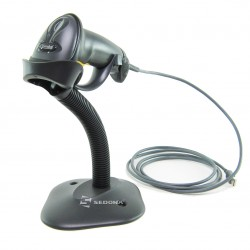 1D Wired Barcode Scanner Zebra Symbol LS2208 Stand USB Black
