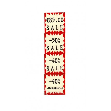 Price label gun 29 x 28 mm white labels