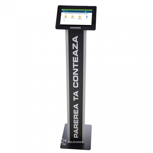 """Floor Stand for 10"""" Tablet, Black, Customizable - Buy or Rent"""