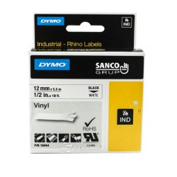 Vinyl Tape Dymo ID1 12mm x 5,5m, black on white