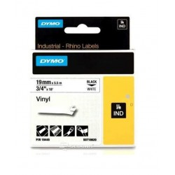 Vinyl Tape Dymo ID1 19mm x 5,5m, black on white