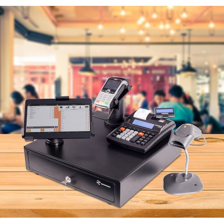 POS System with Tablet and Scanner