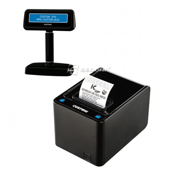 Fiscal Printer Custom K3 F with Electronic Journal and Customer Display