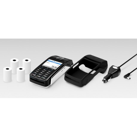 Payment Terminal myPOS Combo - Black, Charger, Case, Paper rolls