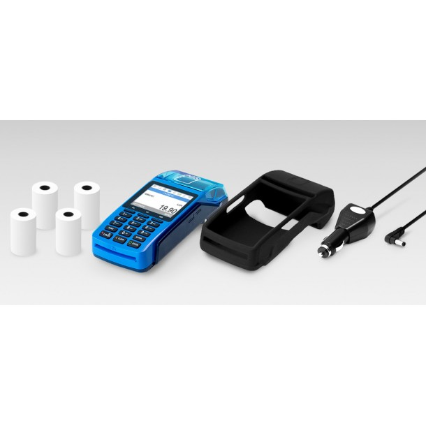 Package Payment Terminal myPOS Combo - Blue, Car Charger, Case, Paper rolls