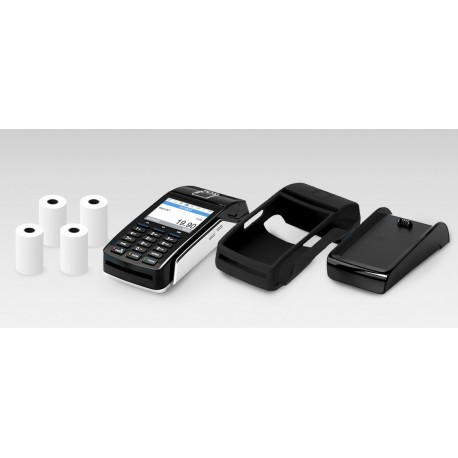 Package Payment Terminal myPOS Combo - Black, Charging station, Case, Paper rolls