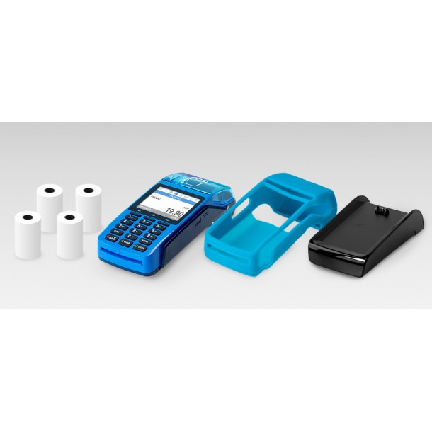 Package Payment Terminal myPOS Combo - Blue, Charging station, Case, Paper rolls