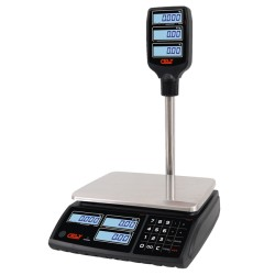 Price Computing Scale Cely SPC With Pole - 6/15/30 kg - without Connexion - Power Supply