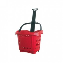 Shopping cart roller type plastic 22 liters