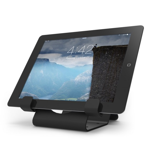 Universal tablet lock stand black