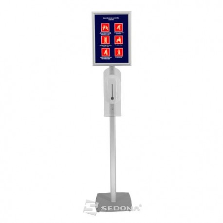 Floor stand with automatic dispenser and A3 click frame