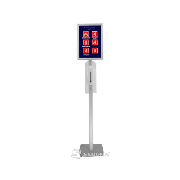 Floor stand with automatic dispenser and A3 click frame – IB290
