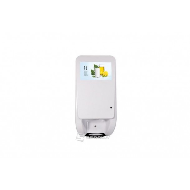 Infokiosk touchscreen DSD1160A with automatic disinfectant dispenser