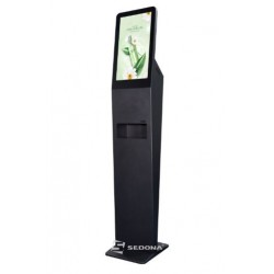 Infokiosk touchscreen DSD2150AF with automatic disinfectant dispenser