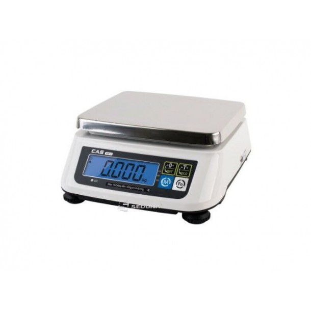 Check Weighing Scale Cas SW-II USB 15 kg, customer display, with Metrological approval