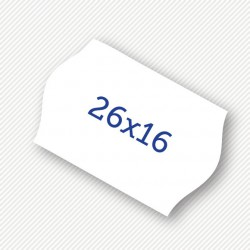 Price label gun 26 x 16 mm white labels