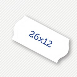 Price label gun 26 x 12 mm white labels